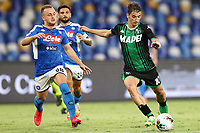 Filip Djuricic US Sassuolo<br /> during the Serie A football match between SSC  Napoli and US Sassuolo at stadio San Paolo in Naples ( Italy ), July 25th, 2020. Play resumes behind closed doors following the outbreak of the coronavirus disease. <br /> Photo Cesare Purini / Insidefoto