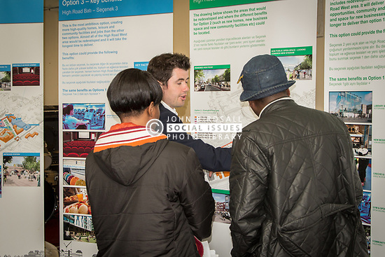 Community consultation with local residents about redevelopment & regeneration in London Borough of Haringey