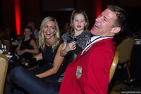 San Francisco, CA - Saturday Feb. 14, 2015: US Soccer player Brian McBride (left) laughs after being inducted into the Hall of Fame at the 2014 US Soccer Hall of Fame Induction ceremony.