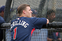Cleveland Indians minor leaguer Micah Schilling during Spring Training at the Chain of Lakes Complex on March 16, 2007 in Winter Haven, Florida.  (Mike Janes/Four Seam Images)