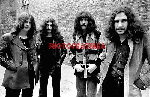 Black Sabbath 1970 Ozzy Osbourne Bill Ward Geezer Butler and Tony Iommi<br /> © Chris Walter