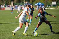 Kansas City, MO - Sunday September 11, 2016: Brittany Taylor, Casey Short during a regular season National Women's Soccer League (NWSL) match between FC Kansas City and the Chicago Red Stars at Swope Soccer Village.