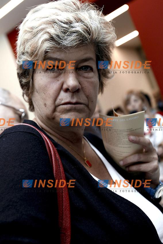 Susanna Camusso.Roma 22/10/2012 Porta Futuro Inaugurazione della mostra 'Le carte del Lavoro' con il Segretario della CGIL.Photo Matteo Ciambelli / Insidefoto
