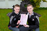 Twins Andrew and Paul Brosnan Aghadoe who both started the Leaving Cert in Killarney Community College on Wednesday
