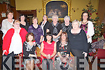 TRAVELLED: Travelled on a Sleigh to get to the Grand Hotel to have their Christmas party were Ballyduff Women's Group, on Saturday night.Front l-r: Audrey Gallagher, Mary Treacy, Hannah Kearney, Majella O'Regan and Kitty Diggin. Back l-r: Rose Houlihan, Bridie Quinlan, Mary Donegan, Phil Scanlan, Bridget Burke and Susan O'Sullivan.......