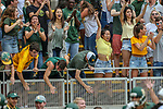 Baylor Bears fans in action during the game between the Kansas Jayhawks and the Baylor Bears at the McLane Stadium in Waco, Texas.