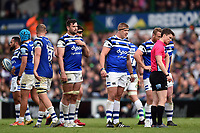 Bath Rugby players look on. Gallagher Premiership match, between Leicester Tigers and Bath Rugby on May 18, 2019 at Welford Road in Leicester, England. Photo by: Patrick Khachfe / Onside Images