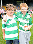 Kyle McElroy and Ciaran Kinsella pictured at O'Raghallaigh's fun day. Photo: Colin Bell/pressphotos.ie
