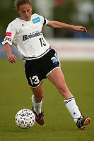 Kristine Lilly of the Boston Breakers during a May 18th 2-1victory over the New York Power at Mitchel Athletic Complex.