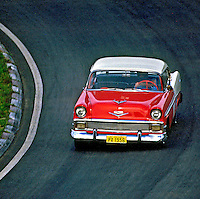 Automobilismo com carros antigos, Interlagos, SP. Foto de Manuel Lourenço.