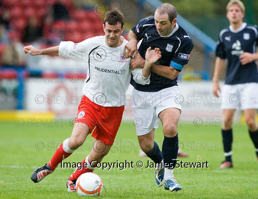 16/10/2010   Copyright  Pic : James Stewart.sct_jsp028_stirling_v_dundee  .:: RYAN BORRIS AND GARY HARKINS CHALLENGE ::  .James Stewart Photography 19 Carronlea Drive, Falkirk. FK2 8DN      Vat Reg No. 607 6932 25.Telephone      : +44 (0)1324 570291 .Mobile              : +44 (0)7721 416997.E-mail  :  jim@jspa.co.uk.If you require further information then contact Jim Stewart on any of the numbers above.........