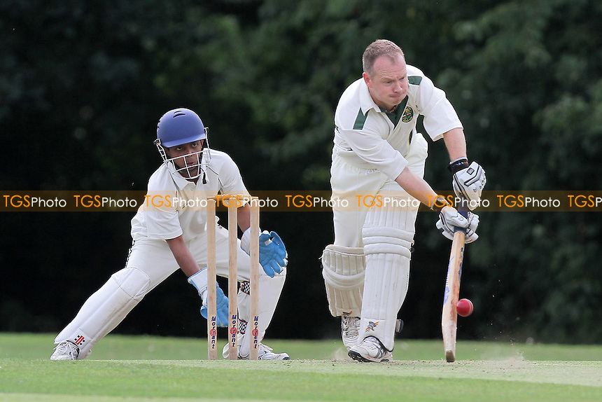 M Bleckam in batting action for Basildon - Hornchurch CC 4th XI vs Basildon & Pitsea CC 3rd XI - Essex Cricket League - 13/08/11 - MANDATORY CREDIT: Gavin Ellis/TGSPHOTO - Self billing applies where appropriate - 0845 094 6026 - contact@tgsphoto.co.uk - NO UNPAID USE.