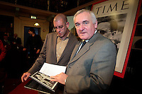 14/10/07 Taoiseach Bertie Ahern with author Diarmaid Ferriter at the launch of Judging Dev a new book on the Life of Eamon De Valera, at the Royal Irish Academy, Dublin. Picture:Arthur Carron/Collins