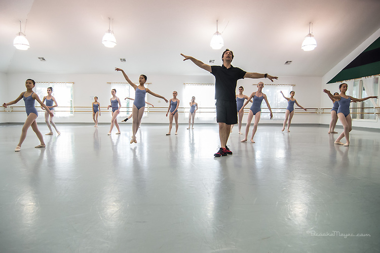 Master Class with visiting teacher Alexander Tressor, Cary Ballet Conservatory, 23 April 2014