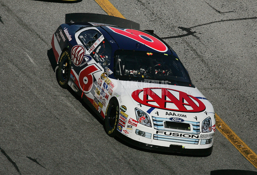 Feb 18, 2007; Daytona, FL, USA; Nascar Nextel Cup Series driver David Ragan (6) during the Daytona 500 at Daytona International Speedway. Mandatory Credit: Mark J. Rebilas