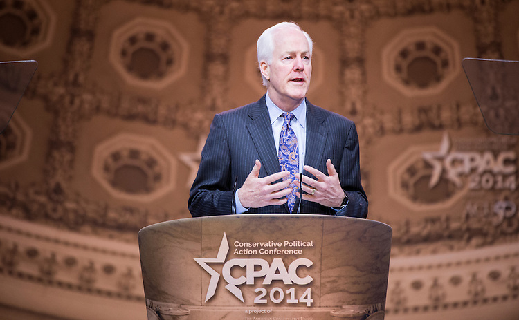 UNITED STATES - MARCH 7: Sen. John Cornyn, R-Texas, speaks during the American Conservative Union's Conservative Political Action Conference (CPAC) at National Harbor, Md., on Friday, March 7, 2014. (Photo By Bill Clark/CQ Roll Call)