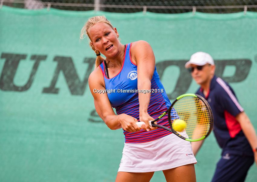 The Hague, Netherlands, 09 June, 2018, Tennis, Play-Offs Competition, Dominique Karregat (NED)<br /> Photo: Henk Koster/tennisimages.com