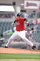 ***Temporary Unedited Reference File***Birmingham Barons relief pitcher Matt Lollis (54) during a game against the Pensacola Blue Wahoos on May 2, 2016 at Regions Field in Birmingham, Alabama.  Pensacola defeated Birmingham 6-3.  (Mike Janes/Four Seam Images)