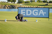 Tony Lloyd during the EDGA nearest the pin challenge following Round 3 of the Portugal Masters, Dom Pedro Victoria Golf Course, Vilamoura, Vilamoura, Portugal. 26/10/2019<br /> Picture Andy Crook / Golffile.ie<br /> <br /> All photo usage must carry mandatory copyright credit (© Golffile   Andy Crook)