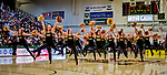 16 December 2018: The University of Vermont Dance Team entertains the fans during a second-half time out  as the Men's Basketball Team hosts the Northeastern University Huskies at Patrick Gymnasium in Burlington, Vermont. The Catamounts defeated the Huskies 75-70 in NCAA Division I America East play. Mandatory Credit: Ed Wolfstein Photo *** RAW (NEF) Image File Available ***