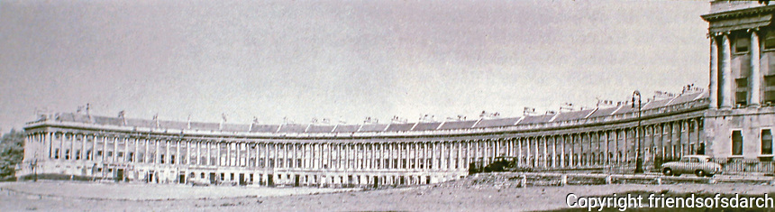 Royal Crescent is a row of 30 terraced houses laid out in a sweeping crescent in the city of Bath, England. Designed by the architect John Wood, the Younger and built between 1767 and 1774, it is among the greatest examples of Georgian architecture.