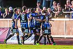 Uppsala 2014-06-26 Fotboll Superettan IK Sirius - IFK V&auml;rnamo :  <br /> Sirius spelare jublar efter Sirius Stefan Silva gjort 3-0<br /> (Foto: Kenta J&ouml;nsson) Nyckelord:  Superettan Sirius IKS Studenternas IFK V&auml;rnamo jubel gl&auml;dje lycka glad happy