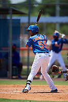 GCL Mets center fielder Stanley Consuegra (59) at bat during a game against the GCL Marlins on August 3, 2018 at St. Lucie Sports Complex in Port St. Lucie, Florida.  GCL Mets defeated GCL Marlins 3-2.  (Mike Janes/Four Seam Images)