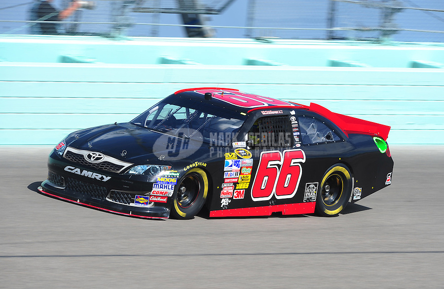 Nov. 19, 2011; Homestead, FL, USA; NASCAR Sprint Cup Series driver Michael McDowell during practice for the Ford 400 at Homestead Miami Speedway. Mandatory Credit: Mark J. Rebilas-