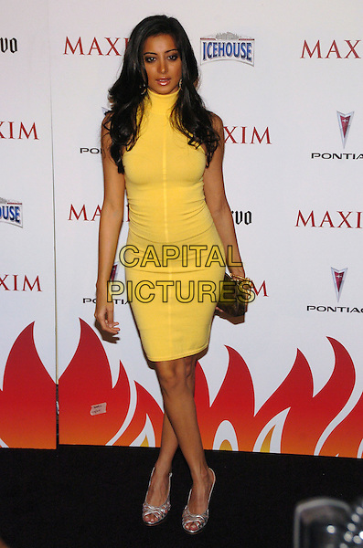 NOUREEN DeWOLF.Maxim Magazine's 8th Annual Hot 100 Party at Gansevoort Hotel, New York City, New York, USA..May 16th, 2007.full length yellow dress louis vuitton clutch purse .CAP/ADM/BL.©Bill Lyons/AdMedia/Capital Pictures *** Local Caption ***
