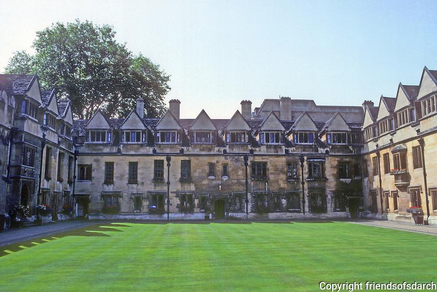 Oxford: Brasenose College, Old Quadrangle, 1509-1516. Photo '87.