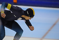 SCHAATSEN: HEERENVEEN: 01-02-2014, IJsstadion Thialf, Olympische testwedstrijd, Daniel Gregg (AUS), ©foto Martin de Jong