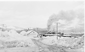 Winter view of Chama yard from west.<br /> D&amp;RGW  Chama, NM