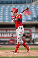 Cameron Simmons (53) of Spring-Ford High School in Royersford, Pennsylvania playing for the Philadelphia Phillies scout team during the East Coast Pro Showcase on August 2, 2014 at NBT Bank Stadium in Syracuse, New York.  (Mike Janes/Four Seam Images)