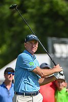 Jim Furyk (USA) watches his tee shot on 3 during round 2 of the 2019 Charles Schwab Challenge, Colonial Country Club, Ft. Worth, Texas,  USA. 5/24/2019.<br /> Picture: Golffile   Ken Murray<br /> <br /> All photo usage must carry mandatory copyright credit (© Golffile   Ken Murray)