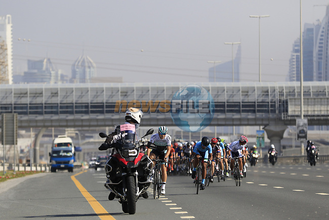 Km0 on Sheikh Zayed Road and the start of Stage 2, the Nakheel Stage, of the 2016 Dubai Tour starting at the Dubai International Marine Club and running 188km to Palm Jumeirah Atlantis, Dubai, United Arab Emirates. 4th February 2016.<br /> Picture: Eoin Clarke | Newsfile<br /> <br /> <br /> All photos usage must carry mandatory copyright credit (&copy; Newsfile | Eoin Clarke)