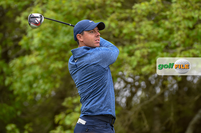 Rory McIlroy (NIR) watches his tee shot on 5 during day 4 of the WGC Dell Match Play, at the Austin Country Club, Austin, Texas, USA. 3/30/2019.<br /> Picture: Golffile   Ken Murray<br /> <br /> <br /> All photo usage must carry mandatory copyright credit (© Golffile   Ken Murray)