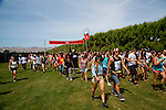 Festival-goers enter the gates for Weekend 1 of the Coachella Valley Music and Arts Festival in Indio, California April 10, 2015. (Photo by Kendrick Brinson)
