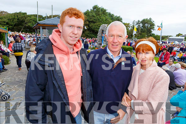 Padraig, Paddy and Mary O'Connor (Ardfert) at the Ballyheigue Pattern Day Mass on Sunday