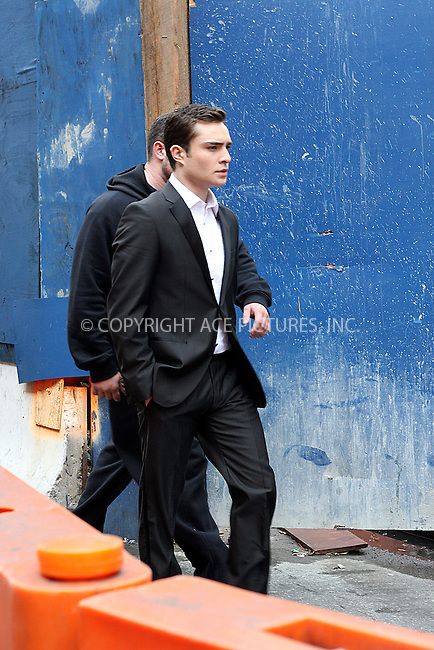 WWW.ACEPIXS.COM . . . . .  ....November 9 2009, New York City....Exclusive - all rounder....Actor Ed Westwick on the set of the TV show 'Gossip Girl' on November 9 2009 in New York City....Please byline: NANCY RIVERA- ACE PICTURES.... *** ***..Ace Pictures, Inc:  ..tel: (212) 243 8787 or (646) 769 0430..e-mail: info@acepixs.com..web: http://www.acepixs.com