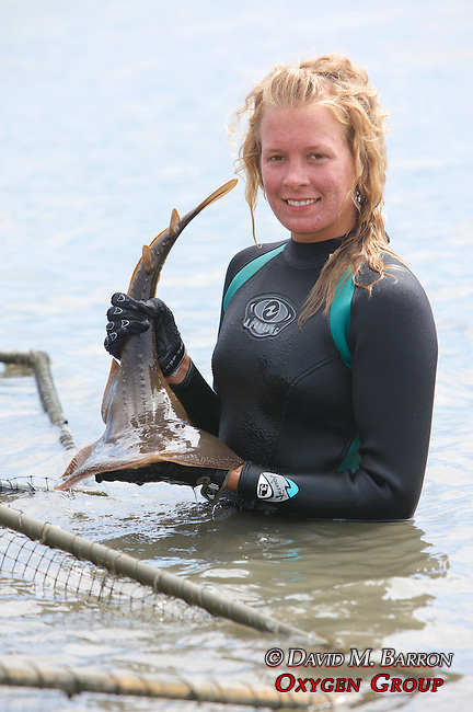 Stephanie Crawford Holding Thornback Ray