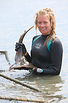 Stephanie Crawford Holding Thornback Ray