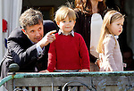 16-04-2014 Balcony 74th birthday of the Danish Queen at Marselisborg Castle in Aarhus. <br /> Prince Frederik and Prince Vincent and Princess Josephine. <br /><br /> <br /> Credit: PPE/face to face<br /> - No Rights for Netherlands -