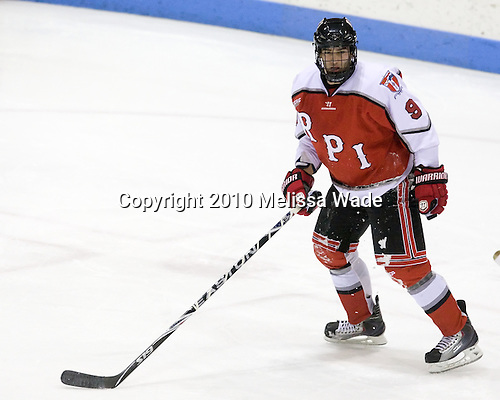 Jerry D'Amigo (RPI - 9) - The Rensselaer Polytechnic Institute (RPI) Engineers defeated the Yale University Bulldogs 4-0 on Saturday, January 30, 2010, at Ingalls Rink in New Haven, Connecticut.