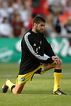 8 May 2004: Kyle Martino stretches before the game. DC United tied the Columbus Crew 1-1 at RFK Stadium in Washington, DC during a regular season Major League Soccer game..