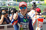 Mugello. italia. motociclismo. <br /> Gran Premio d'Italia TIM during the world championship of motorcycle<br /> Circuito de mugello<br /> a 31/05/2014 <br /> En la foto :  <br /> Qualifying MotoGP<br />jorge lorenzo<br />PHOTOCALL3000/RM