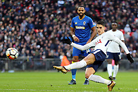 Erik Lamela of Tottenham fires in a shot  during Tottenham Hotspur vs AFC Wimbledon, Emirates FA Cup Football at Wembley Stadium on 7th January 2018