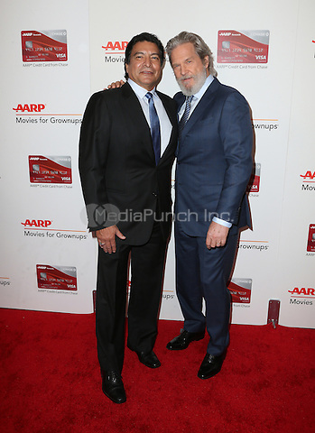 Beverly Hills, CA - FEBRUARY 06:  Gil Birmingham, Jeff Bridges, At 16th Annual AARP The Magazine's Movies For Grownups Awards, At The Beverly Wilshire Four Seasons Hotel In California on February 06, 2017. Credit: Faye Sadou/MediaPunch