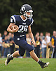 Thomas Lauinger #11 of Northport returns a kick during a Suffolk County Division I varsity football game against Lindenhurst at Glenn High School on Saturday, Sept. 2, 2017.
