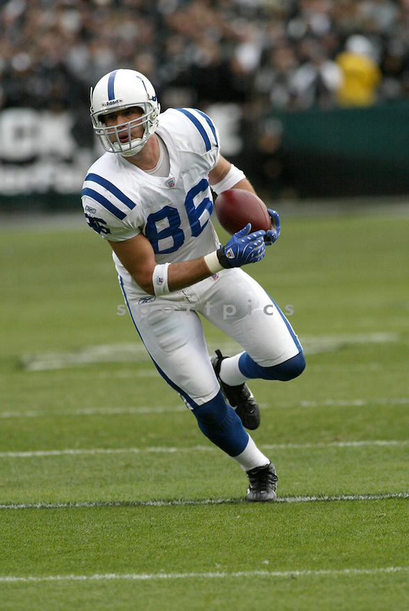 BEN UTECHT, of the Indianapolis Colts in action during the Colts game against the Oakland Raiders on December 16, 2007 in Oakland, California...COLTS win 21-14..SPORTPICS