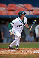 Dartmouth Big Green shortstop Thomas Roulis (13) at bat during a game against the Lehigh Mountain Hawks on March 20, 2016 at Chain of Lakes Stadium in Winter Haven, Florida.  Dartmouth defeated Lehigh 5-4.  (Mike Janes/Four Seam Images)